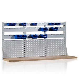 Nadstawka 2-rzędowa z trzema panelami perforowanymi i uchwytami na poj.W-3N-6