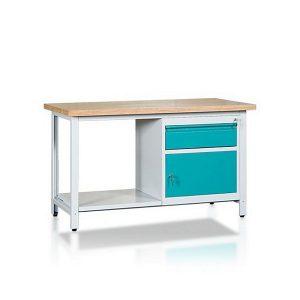 Stół 2-modułowy + szafka WSZ-B + 1 półka W-P1WS2-04