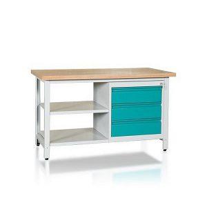 Stół 2-modułowy + szafka WSZ-C + 2 półki W-P1WS2-05